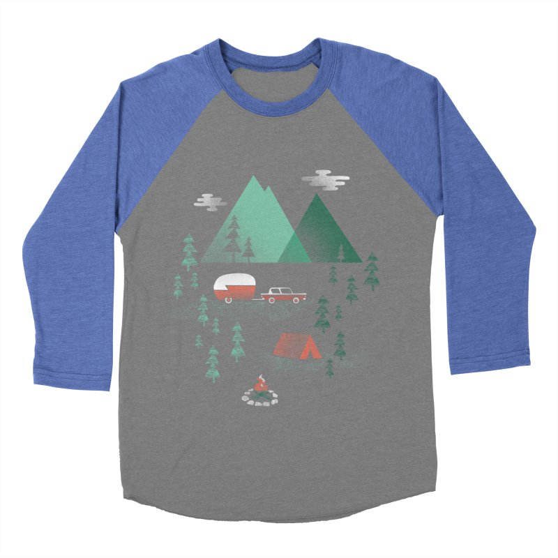 Pitch a Tent Men's Baseball Triblend Longsleeve T-Shirt by Jenny Tiffany's Artist Shop