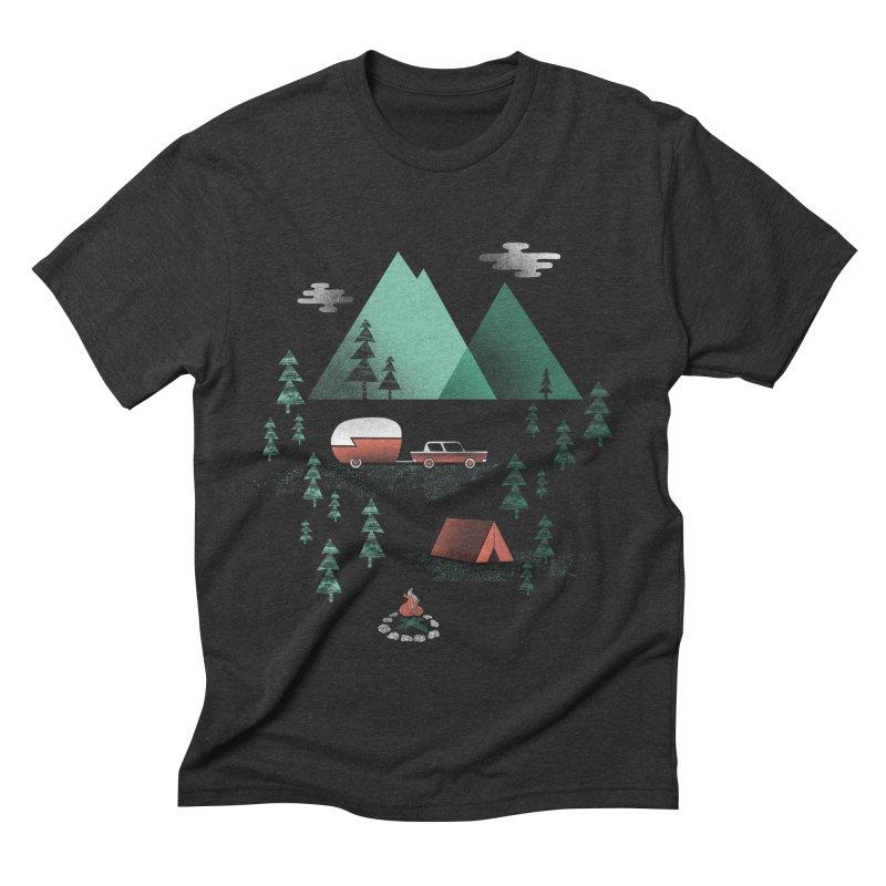 Pitch a Tent Men's Triblend T-shirt by Jenny Tiffany's Artist Shop