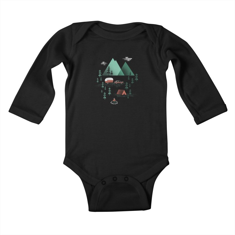 Pitch a Tent Kids Baby Longsleeve Bodysuit by Jenny Tiffany's Artist Shop