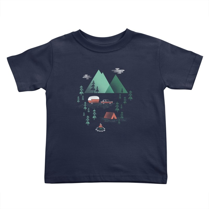 Pitch a Tent Kids Toddler T-Shirt by Jenny Tiffany's Artist Shop