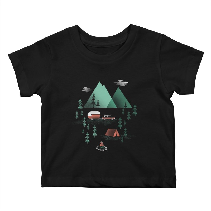 Pitch a Tent Kids Baby T-Shirt by Jenny Tiffany's Artist Shop