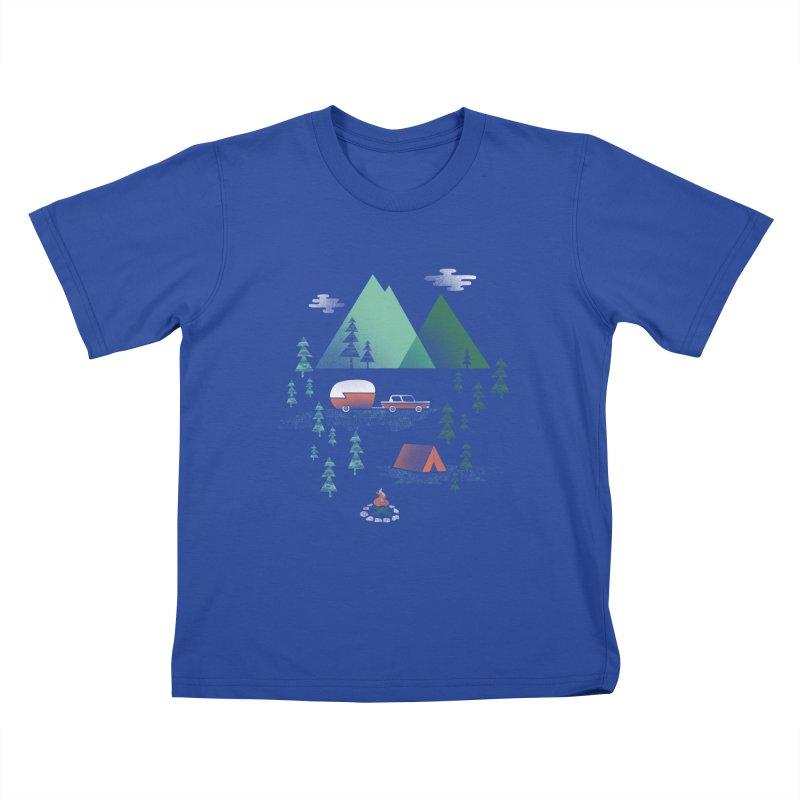Pitch a Tent Kids T-Shirt by Jenny Tiffany's Artist Shop