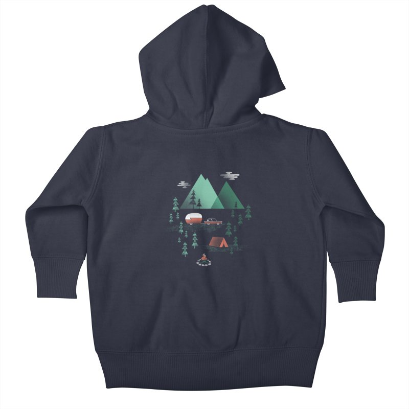 Pitch a Tent Kids Baby Zip-Up Hoody by Jenny Tiffany's Artist Shop