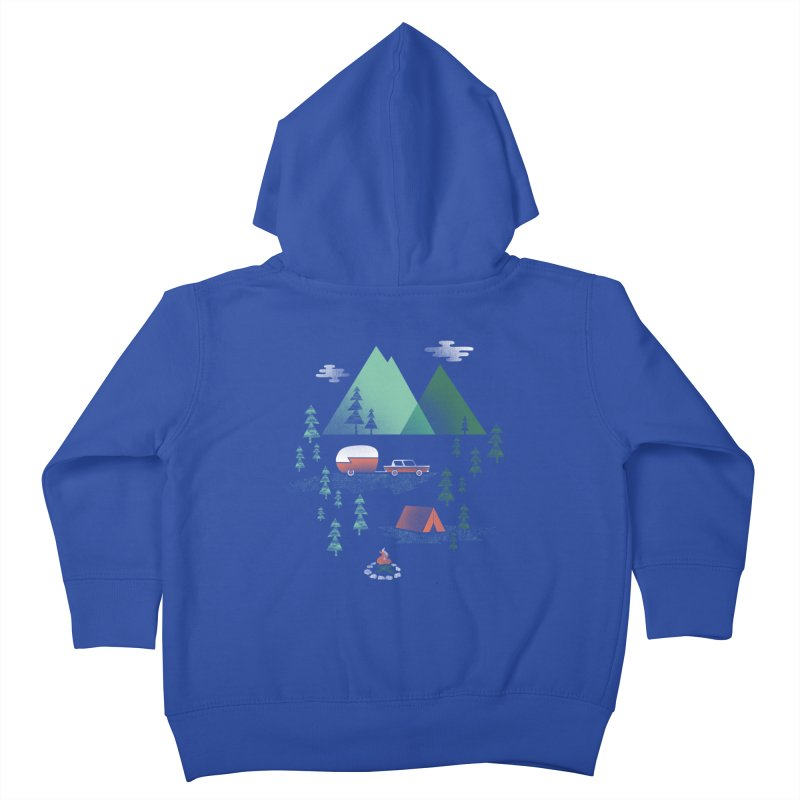Pitch a Tent Kids Toddler Zip-Up Hoody by Jenny Tiffany's Artist Shop