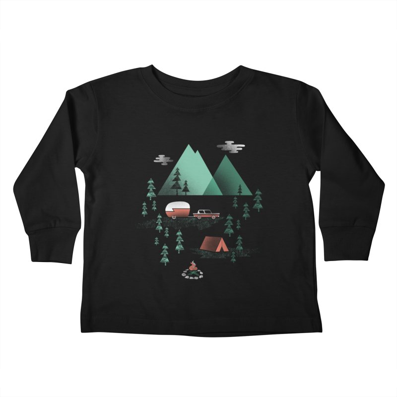 Pitch a Tent Kids Toddler Longsleeve T-Shirt by Jenny Tiffany's Artist Shop