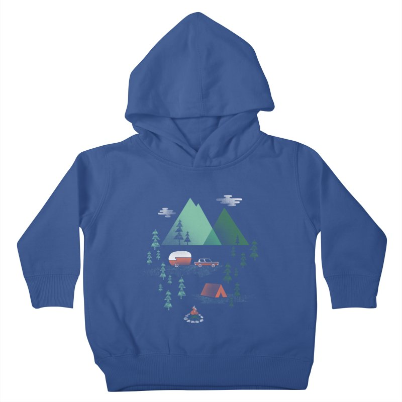 Pitch a Tent Kids Toddler Pullover Hoody by Jenny Tiffany's Artist Shop