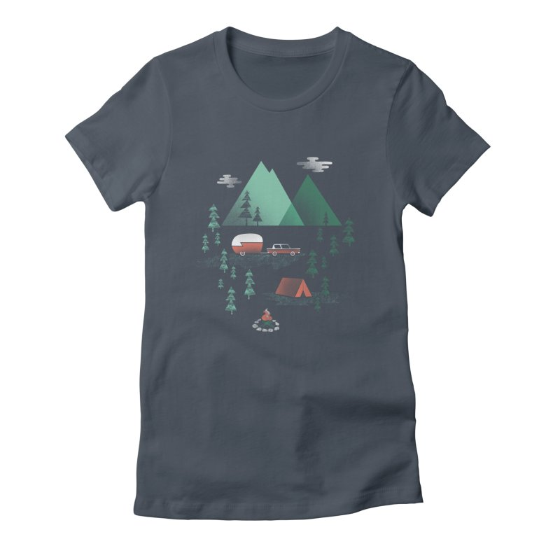 Pitch a Tent Women's T-Shirt by Jenny Tiffany's Artist Shop