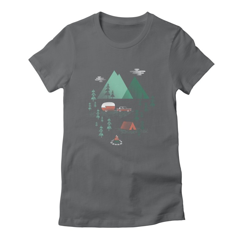 Pitch a Tent Women's Fitted T-Shirt by Jenny Tiffany's Artist Shop