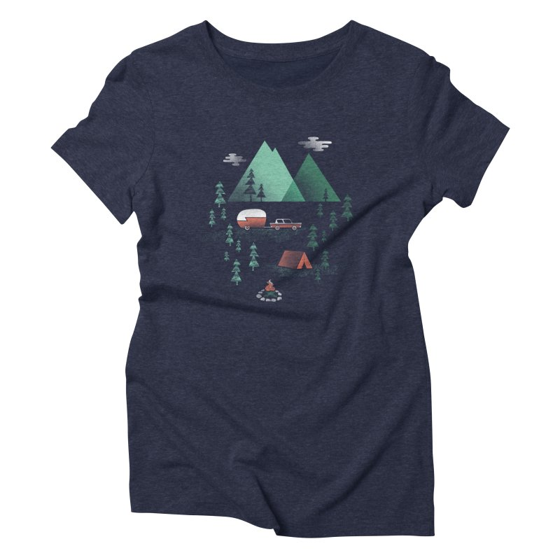 Pitch a Tent Women's Triblend T-shirt by Jenny Tiffany's Artist Shop
