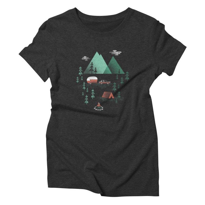 Pitch a Tent Women's Triblend T-Shirt by Jenny Tiffany's Artist Shop