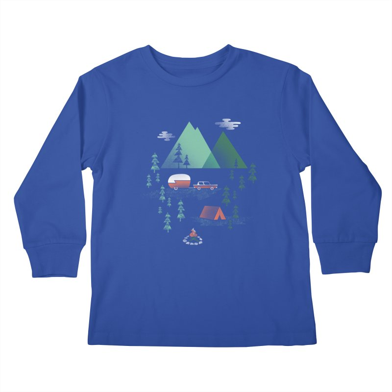 Pitch a Tent Kids Longsleeve T-Shirt by Jenny Tiffany's Artist Shop