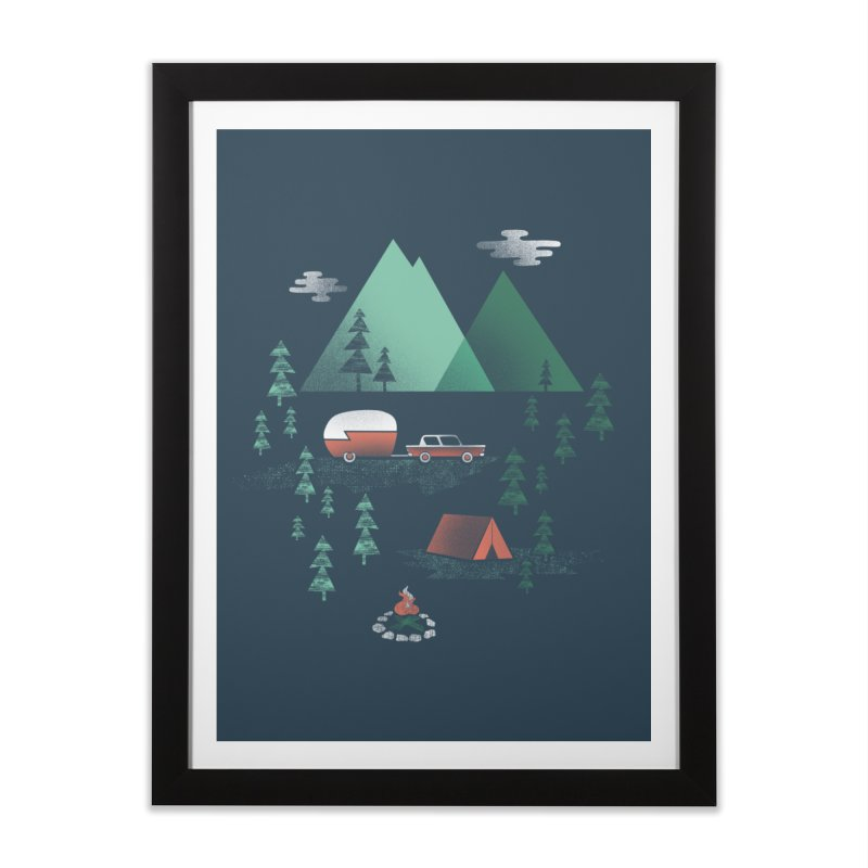 Pitch a Tent Home Framed Fine Art Print by Jenny Tiffany's Artist Shop