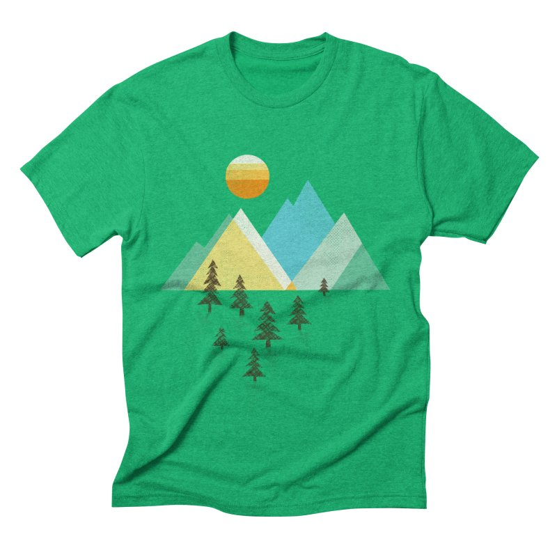 Asphalt Sun Men's Triblend T-shirt by Jenny Tiffany's Artist Shop