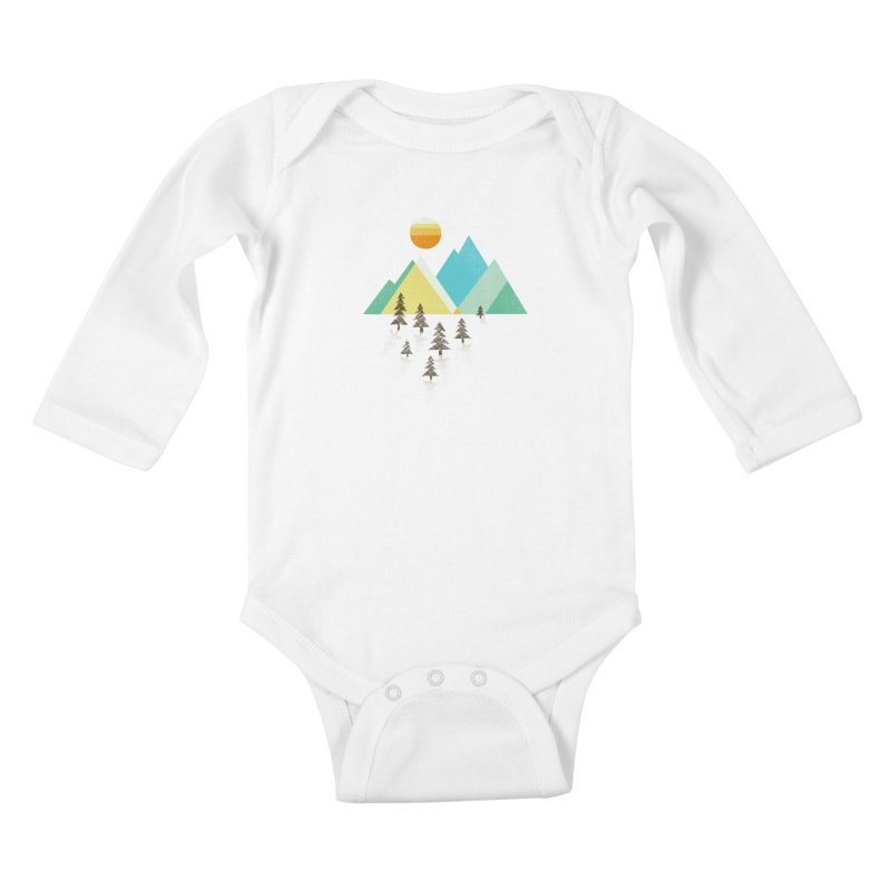 Asphalt Sun Kids Baby Longsleeve Bodysuit by Jenny Tiffany's Artist Shop