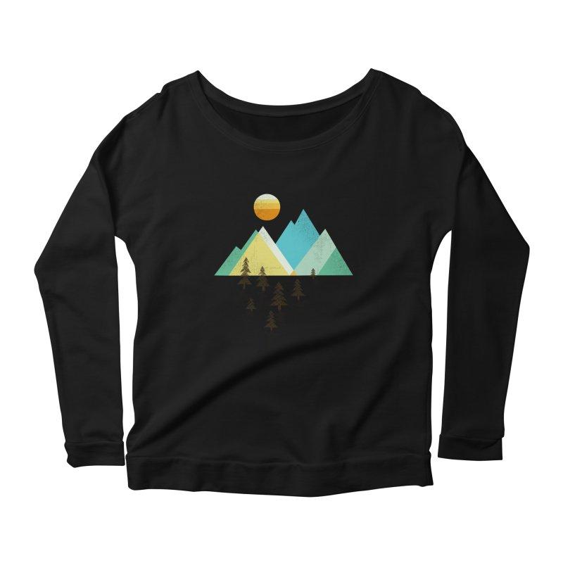 Asphalt Sun Women's Scoop Neck Longsleeve T-Shirt by Jenny Tiffany's Artist Shop