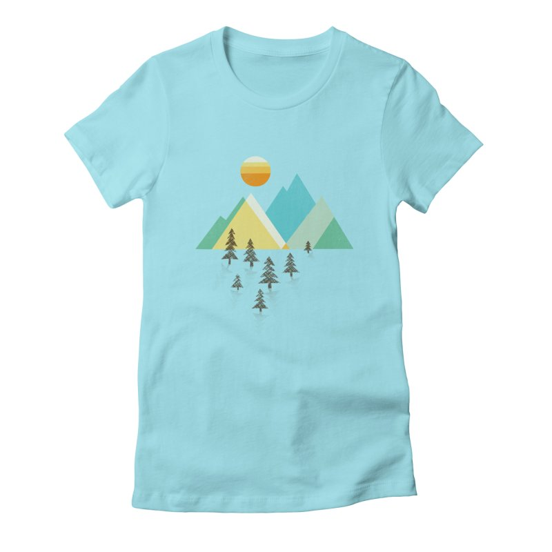 Asphalt Sun Women's Fitted T-Shirt by Jenny Tiffany's Artist Shop