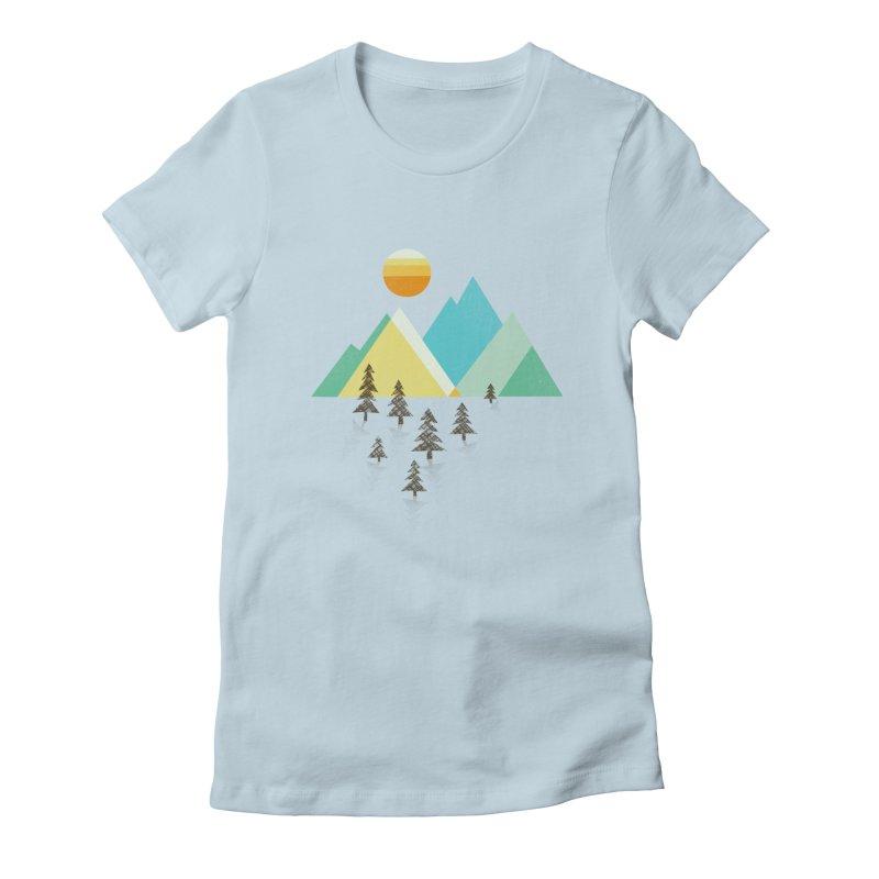 Asphalt Sun Women's Fitted T-Shirt by Jenny Tiffany's Artist Shop