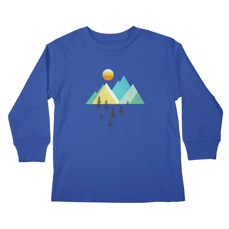 Asphalt Sun Kids Longsleeve T-Shirt by Jenny Tiffany's Artist Shop