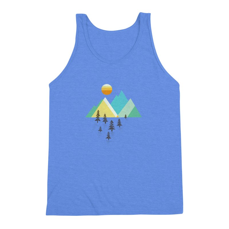 Asphalt Sun Men's Triblend Tank by Jenny Tiffany's Artist Shop