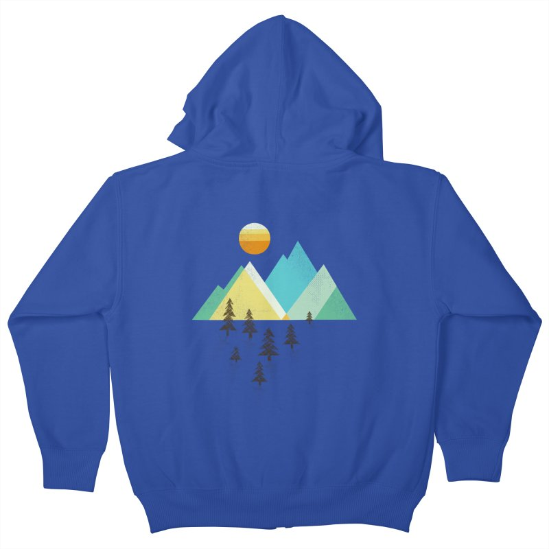 Asphalt Sun Kids Zip-Up Hoody by Jenny Tiffany's Artist Shop