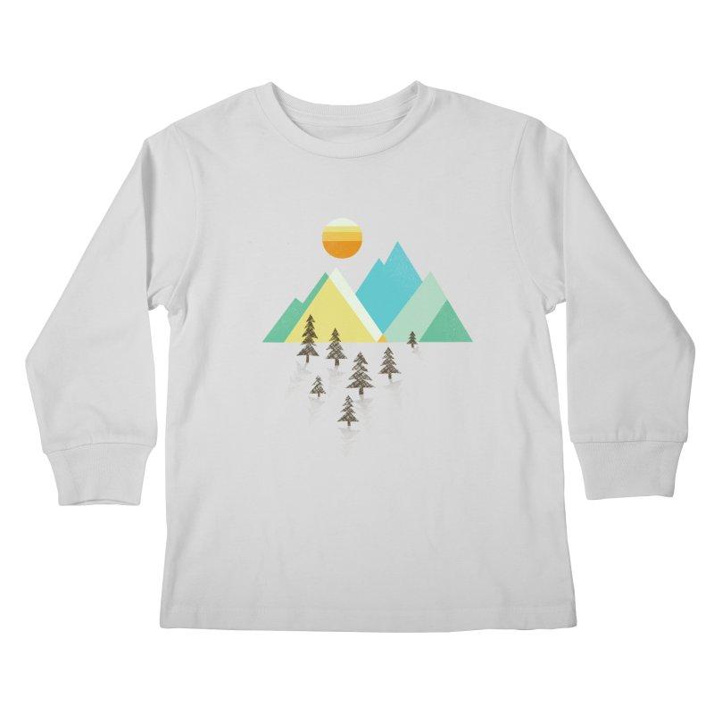 Asphalt Sun Kids Longsleeve T-Shirt by Jenny Tiffany's Artist Shop