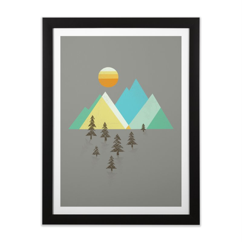 Asphalt Sun Home Framed Fine Art Print by Jenny Tiffany's Artist Shop
