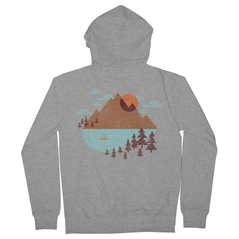 Indian summer Men's French Terry Zip-Up Hoody by Jenny Tiffany's Artist Shop