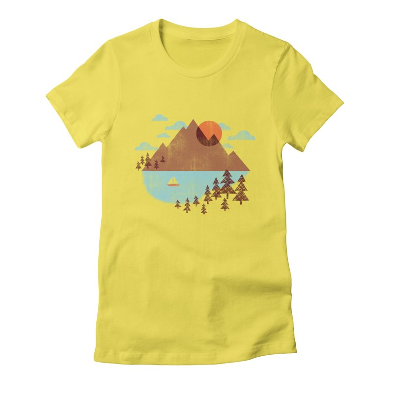 Indian summer Women's Fitted T-Shirt by Jenny Tiffany's Artist Shop