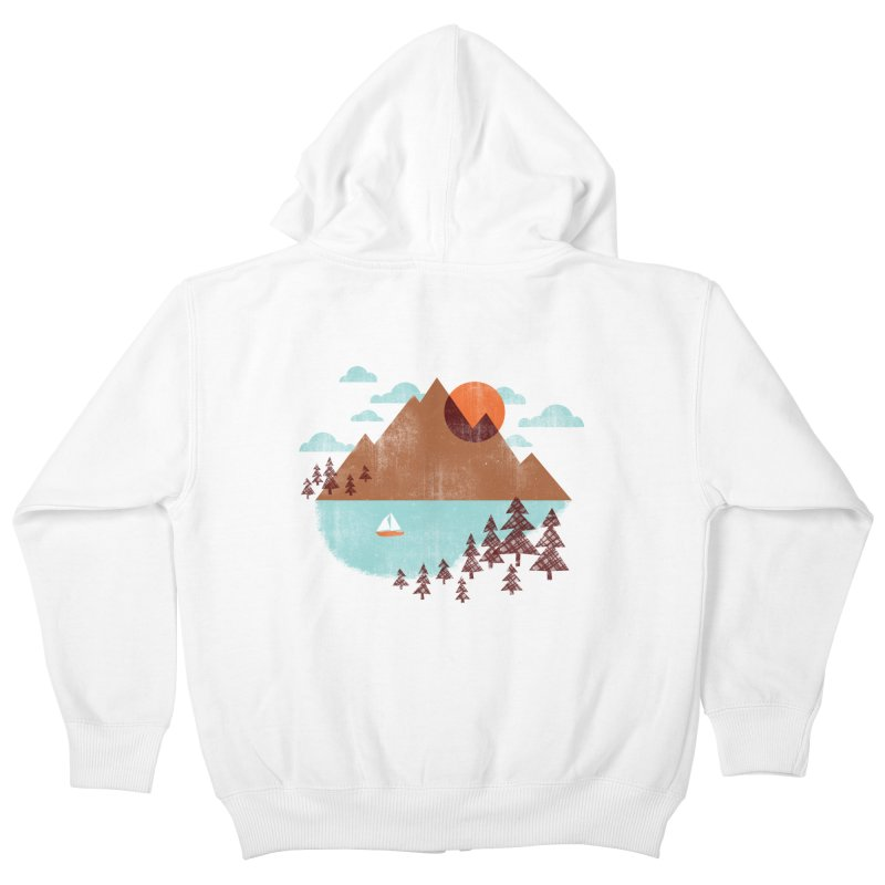Indian summer Kids Zip-Up Hoody by Jenny Tiffany's Artist Shop