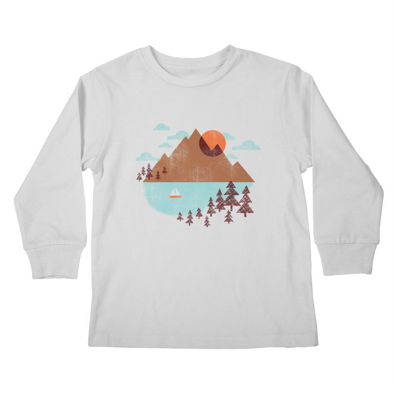 Indian summer Kids Longsleeve T-Shirt by Jenny Tiffany's Artist Shop