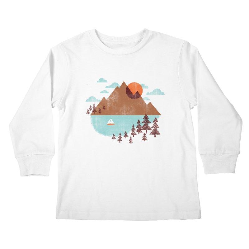 Indian summer Kids Longsleeve T-Shirt by Jenny Tiffany's Artist Shop