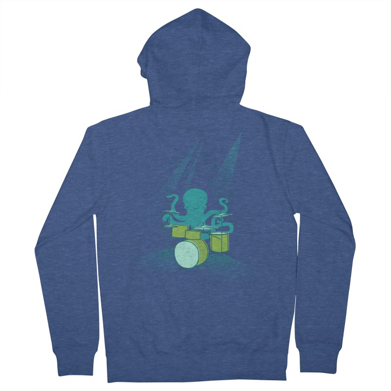 Under Sea Beats Men's French Terry Zip-Up Hoody by Jenny Tiffany's Artist Shop