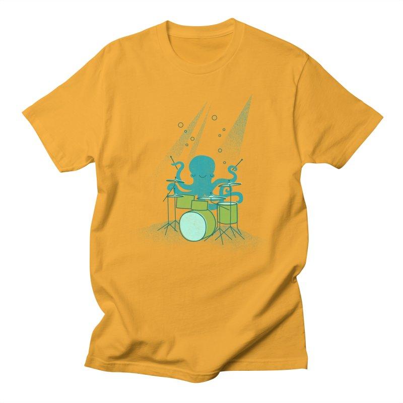 Under Sea Beats Men's Regular T-Shirt by Jenny Tiffany's Artist Shop
