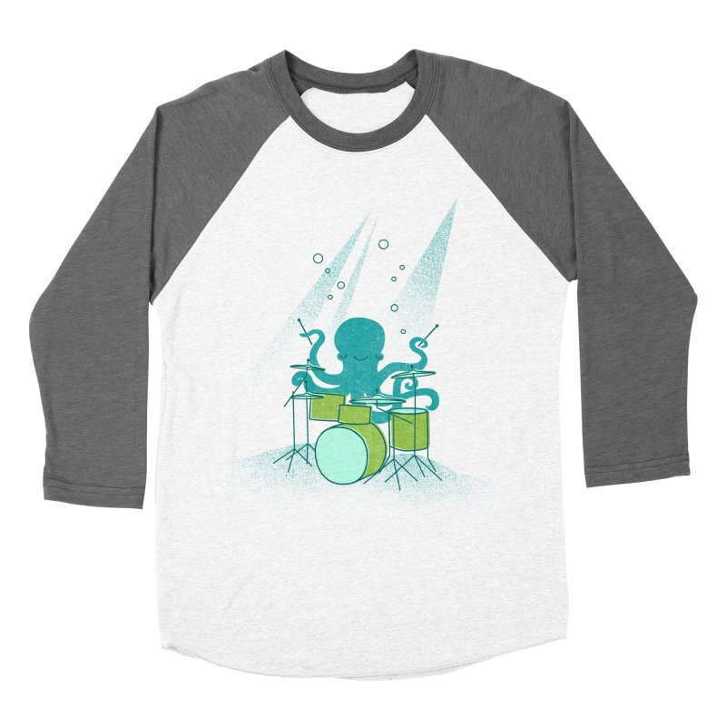 Under Sea Beats Women's Baseball Triblend Longsleeve T-Shirt by Jenny Tiffany's Artist Shop