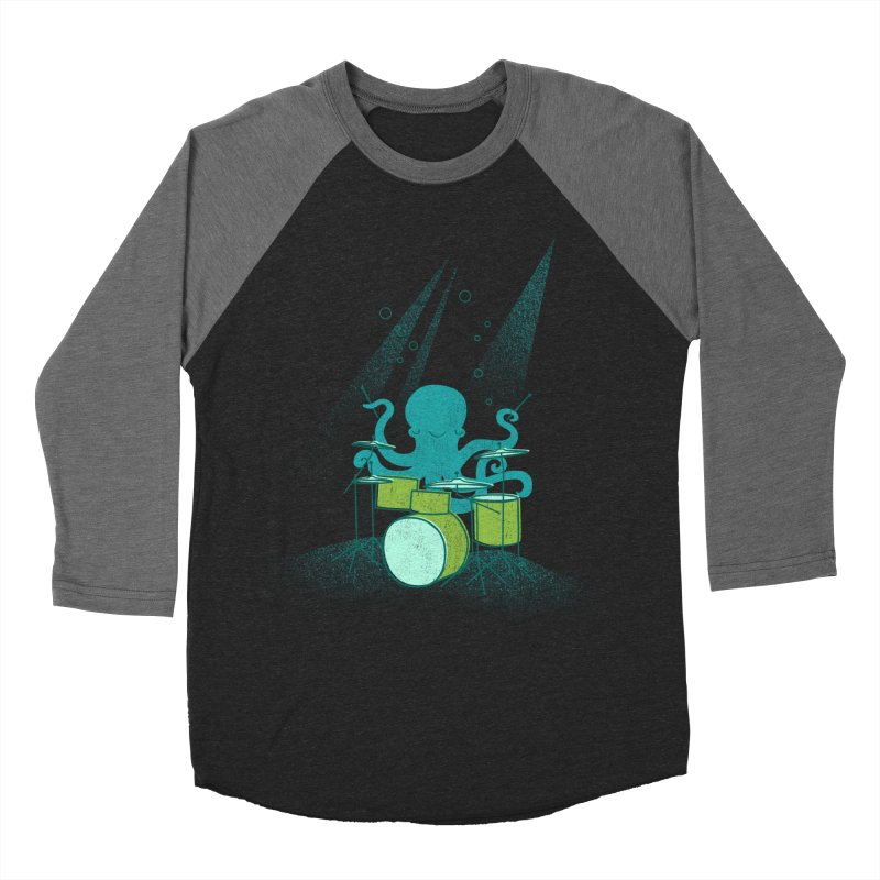 Under Sea Beats Men's Baseball Triblend Longsleeve T-Shirt by Jenny Tiffany's Artist Shop
