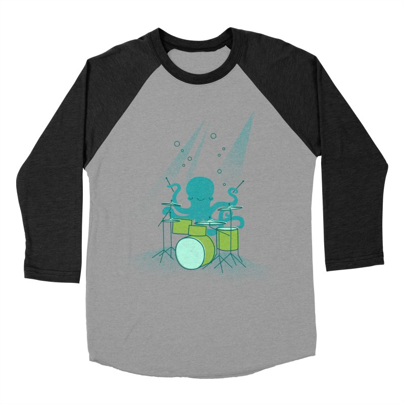 Under Sea Beats Men's Baseball Triblend T-Shirt by Jenny Tiffany's Artist Shop