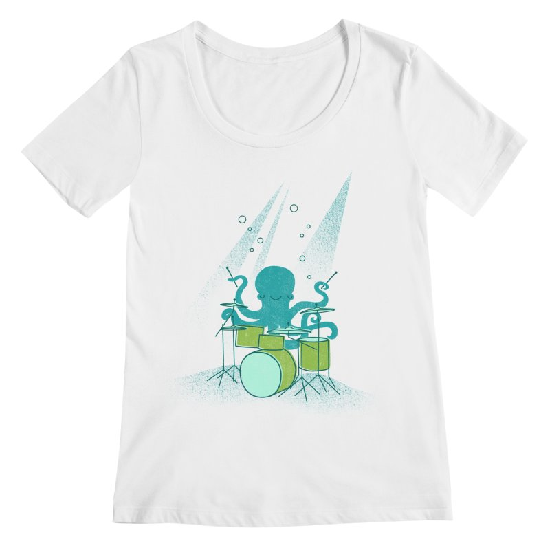 Under Sea Beats Women's Regular Scoop Neck by Jenny Tiffany's Artist Shop