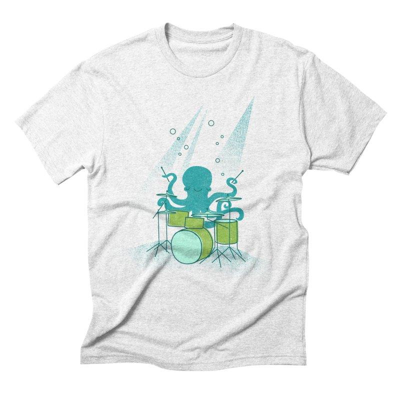 Under Sea Beats Men's Triblend T-shirt by Jenny Tiffany's Artist Shop
