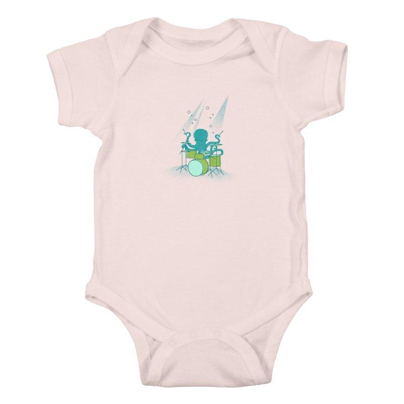 Under Sea Beats Kids Baby Bodysuit by Jenny Tiffany's Artist Shop