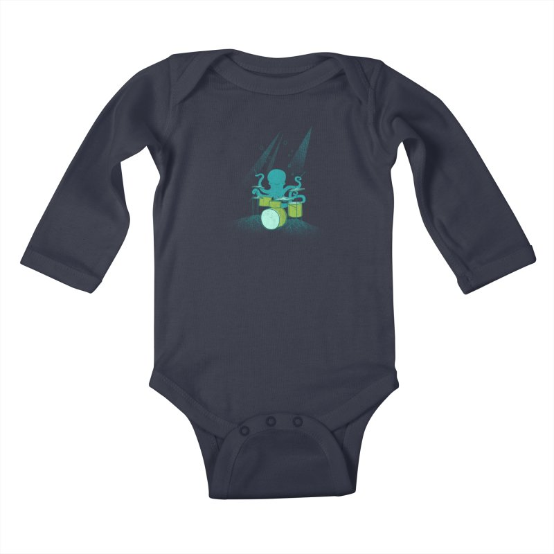 Under Sea Beats Kids Baby Longsleeve Bodysuit by Jenny Tiffany's Artist Shop