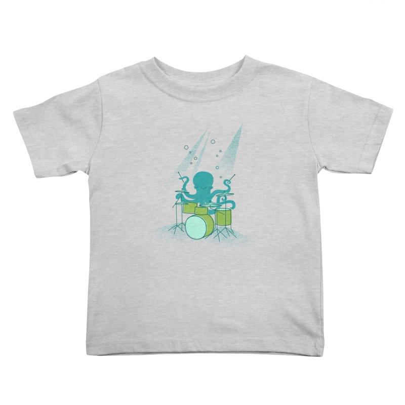 Under Sea Beats Kids Toddler T-Shirt by Jenny Tiffany's Artist Shop