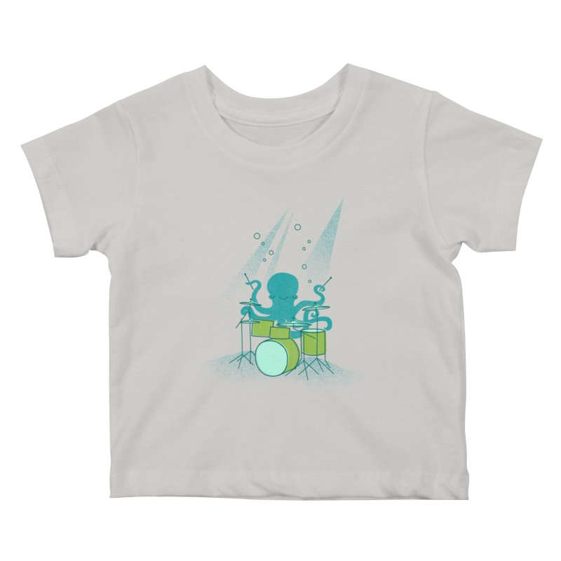 Under Sea Beats Kids Baby T-Shirt by Jenny Tiffany's Artist Shop