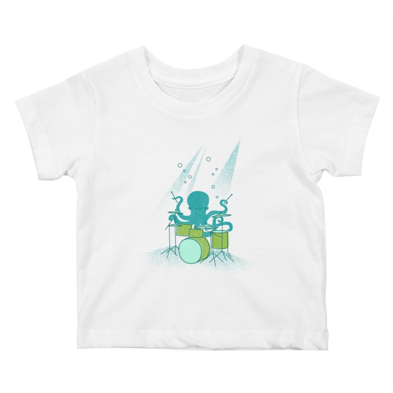Under Sea Beats Kids Baby T-Shirt by Jenny Tiffany's Artist Shop