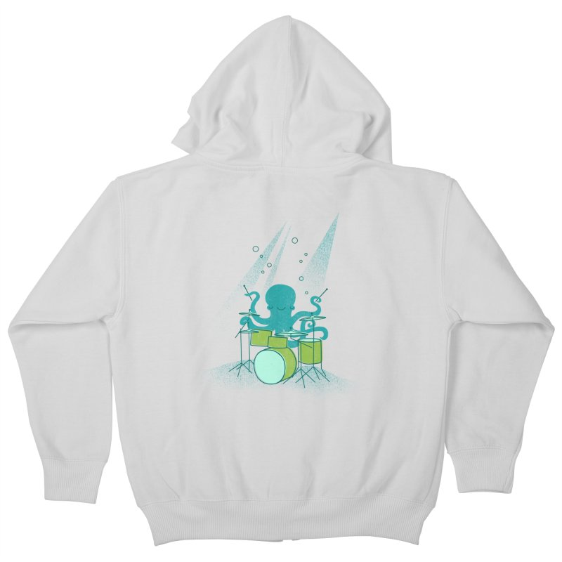 Under Sea Beats Kids Zip-Up Hoody by Jenny Tiffany's Artist Shop