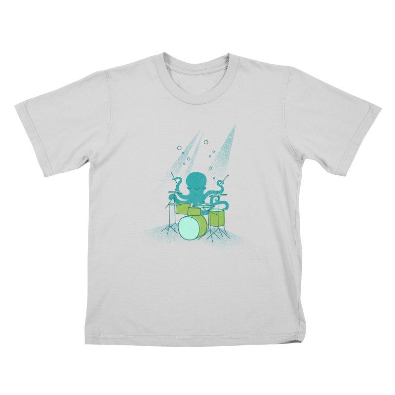 Under Sea Beats Kids T-Shirt by Jenny Tiffany's Artist Shop