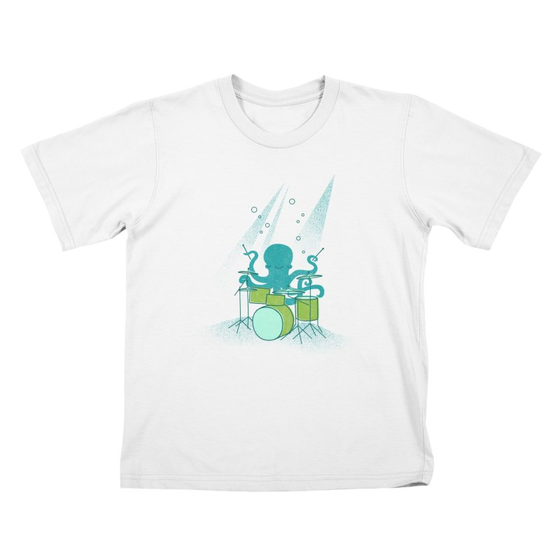 Under Sea Beats Kids T-Shirt by Jenny Tiffany's Artist Shop