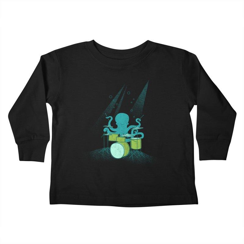 Under Sea Beats Kids Toddler Longsleeve T-Shirt by Jenny Tiffany's Artist Shop