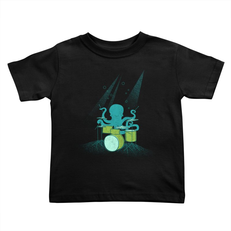 Under Sea Beats Kids Toddler T-Shirt by Jenny Tiffany's Artist Shop