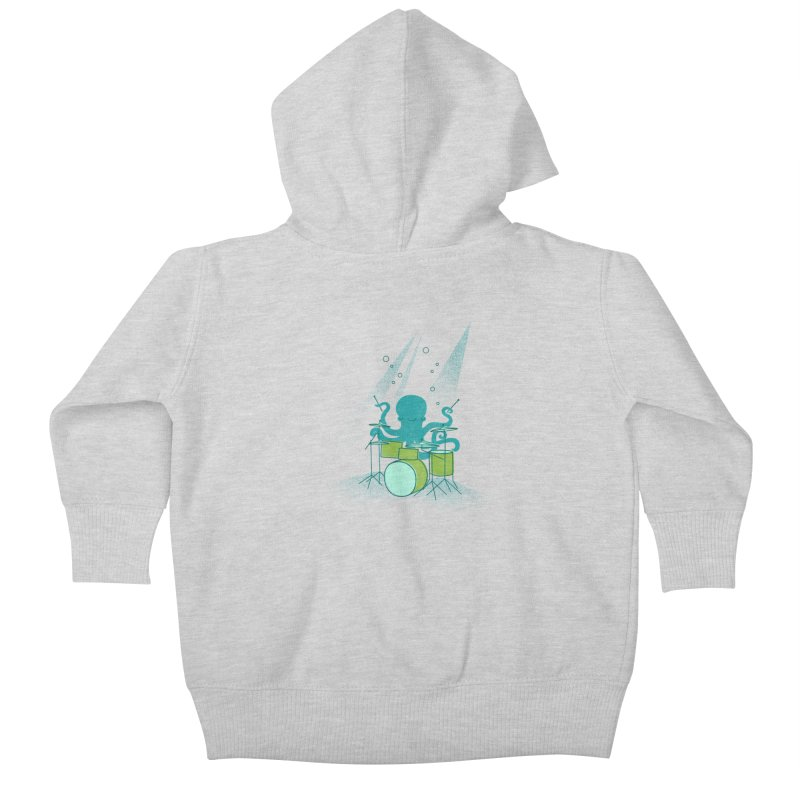 Under Sea Beats Kids Baby Zip-Up Hoody by Jenny Tiffany's Artist Shop