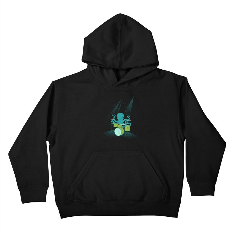Under Sea Beats Kids Pullover Hoody by Jenny Tiffany's Artist Shop